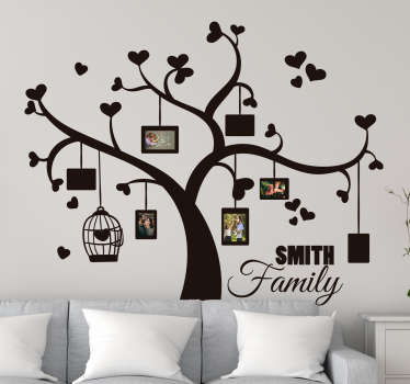Heart family tree wall sticker
