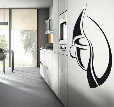 Sticker decorativo illustrazione caffè 2