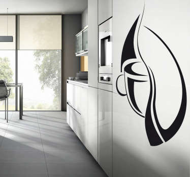 Kaffee Logo Skizze Aufkleber