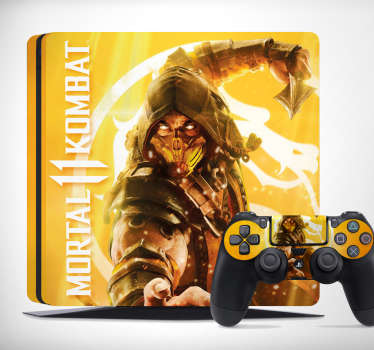 Give your console a new look with this Mortal Kombat PS4 sticker.  This PS4 skin is easy to apply, and extra resistant to creases, tears and wrinkles