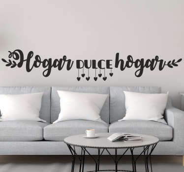 Decorate the home with this beautiful text wall decal that is a available in different colour options and sizes to explore.
