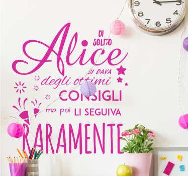 Adesivo murale Alice nel paese delle meraviglie