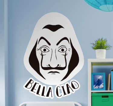 Adesivo murale Bella Ciao Casa di Carta