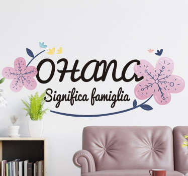 Adesivo murale Ohana famiglia