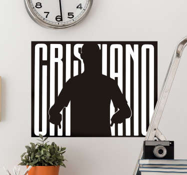 Cristiano Silhouette football wall sticker