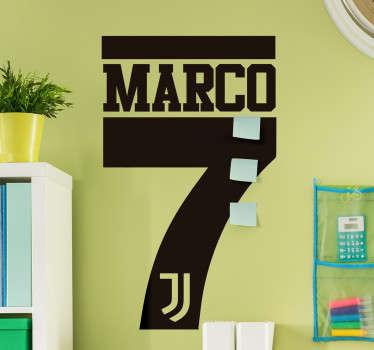 Adesivo personalizzato Juventus con nome