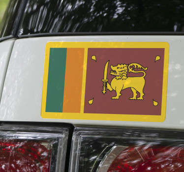 Sri Lankan Flag Vehicle Decal