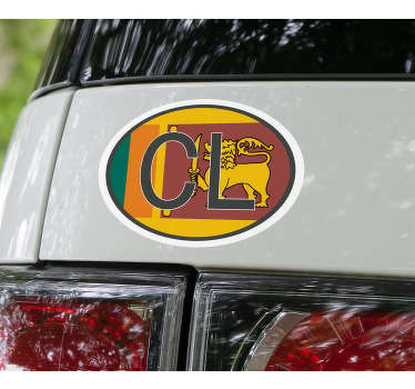 Vehicle Code Sri Lanka Car Sticker