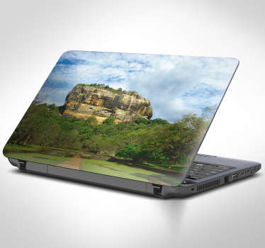 Celebrate and share in Sri Lanka's rich history with this amazing Lion Rock laptop sticker. Free worldwide delivery available!
