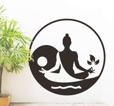 Meditating Buddha Home Wall Sticker