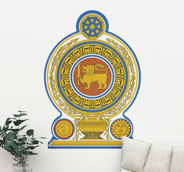 Sri Lanka Emblem Living Room Wall Sticker