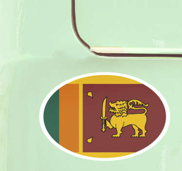 Oval Sri Lanka Flag Sticker