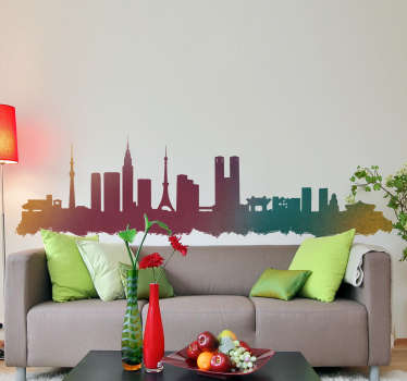 Decorative city silhouette wall decal of Sri Lanka in beautiful amazing colour and it is available in different sizes. Easy to apply.