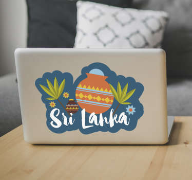 Sri Lanka Cartoon Laptop Sticker