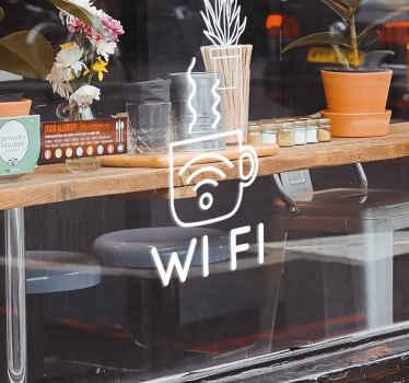 Wi-Fi Coffee Business sticker