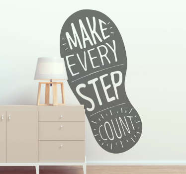Start making steps in the right direction in your life with this amazing motivational quote wall sticker. Choose from over 50 colours!