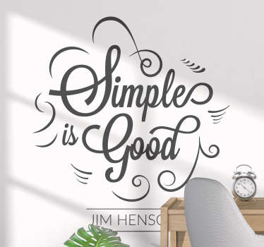 Simple Is Good Quote Sticker