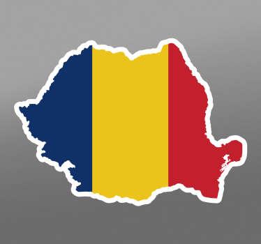 Autocolant de mașină a steagului românesc