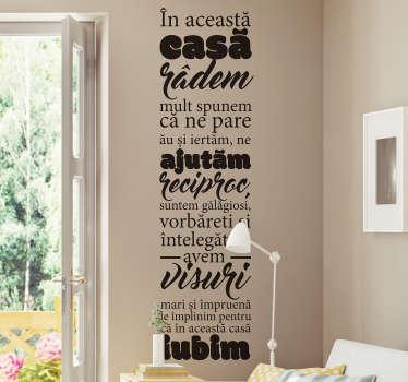 Regulile casei decor de perete living