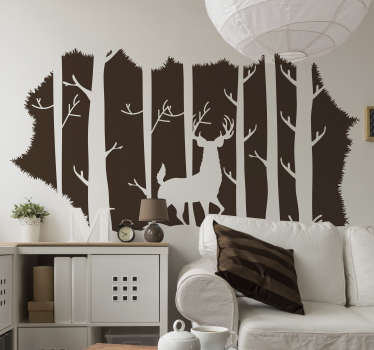 . The Stag in the Florest Wall Sticker is the perfect sticker for the ones that  love the nature and want a pice of it in their homes!