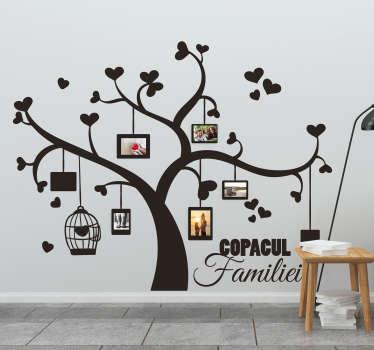 Arbore genealogic cu autocolant de perete fotografii