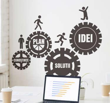 Acest autocolant vă va permite să vă redevocați biroul sau compania, oferind în același timp și colegilor dumneavoastră o doză de inspirație zilnică