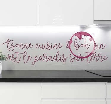Sticker Maison Bonne cuisine