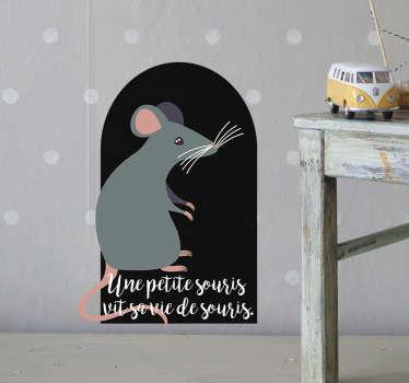 Sticker Mural petite souris