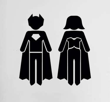 Superhero Bathroom Door Stickers