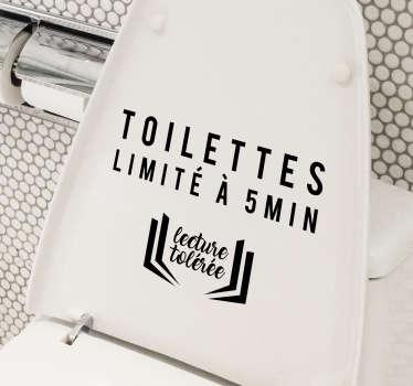 Sticker Salle de Bain usage limité