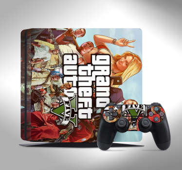 PS4 sticker GTA V