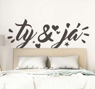 Vy a já domácí textová nálepka na zeď