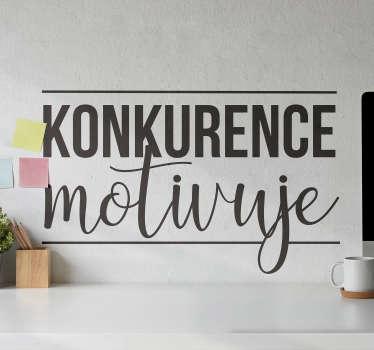 Tato samolepka na zeď s dekorací domova vám poskytne motivaci, kterou potřebujete, abyste byli nejlepší verzí sebe sama a udrželi vás na cestě k úspěchu.