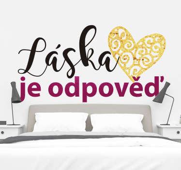 Láska je odpověď láska nálepka
