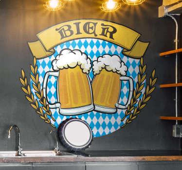 Wandtattoo Esszimmer Bier