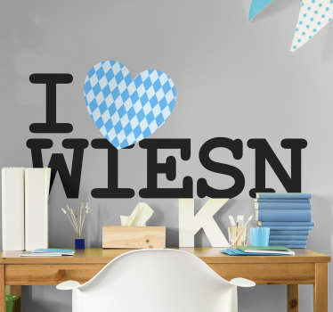 Text Aufkleber Oktoberfest Wiesn Sticker