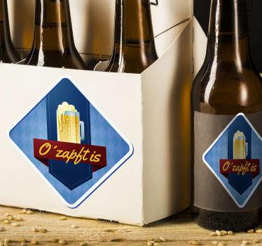 """""""O´zapft is"""" - Sticker perfekt als Deko für alle Bierliebhaber. Besonders passend zum Oktoberfest oder neben Ihrem Zapfhahn!"""