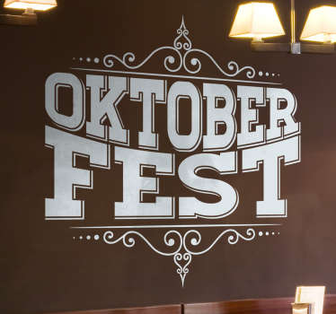 Oktoberfest Text Living Room Wall Decor