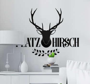 Wandtattoo Wohnzimmer Tier Sticker Platzhirsch