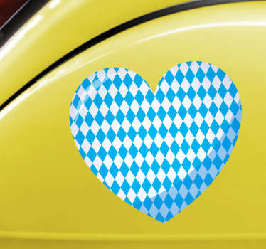 Origineller Aufkleber Bayerisches Herz Autosticker