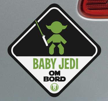 Baby jedi baby ombord klistremerke