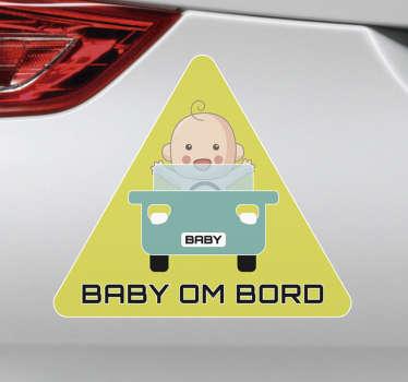 Bil baby ombord klistremerke