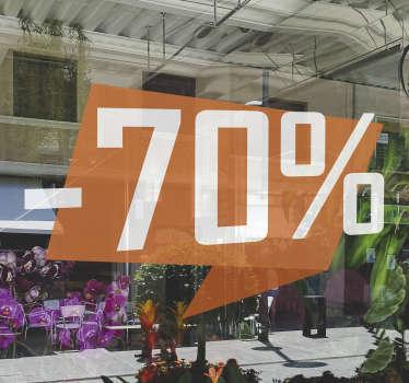 Customisable Discount Window sale sticker