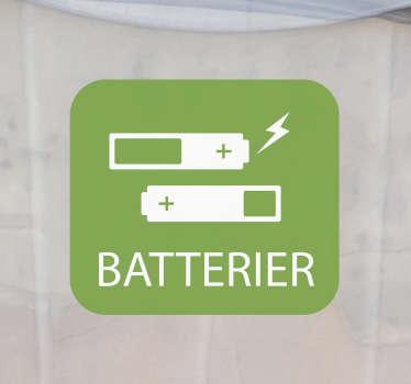 Batterier resirkulering av hjemmetapet
