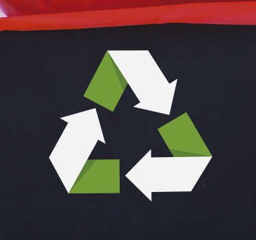 Recycle Symbol Wall Sticker