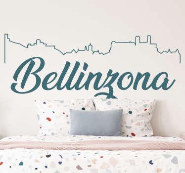 Adesivo skyline bellinzona