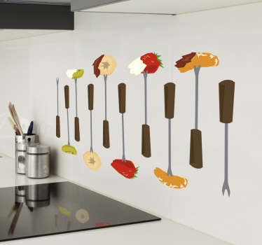 Fondue Food Kitchen sticker