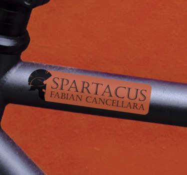 Adesivo bici spartacus fabian cancellara