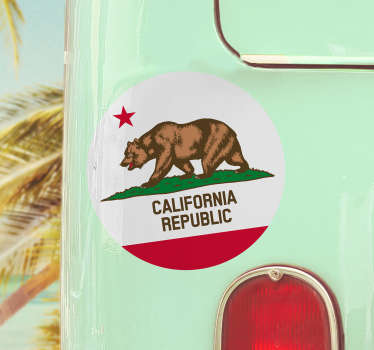 California Flag Car Sticker