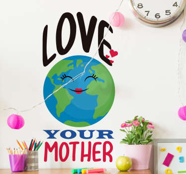 Climate Change Earth Wall Sticker